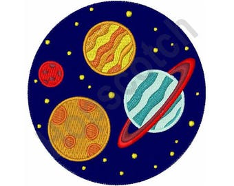 Circle Of Planets - Machine Embroidery Design