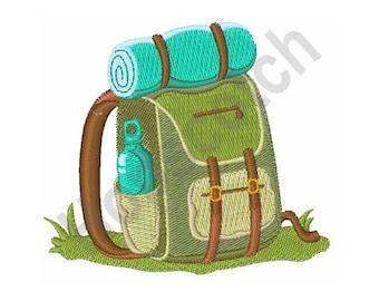 Hiking Backpack - Machine Embroidery Design