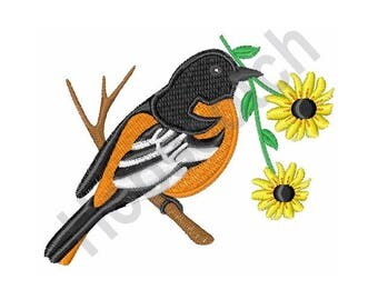 Black Eyed Susan Oriole - Machine Embroidery Design