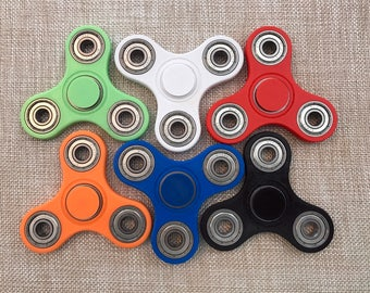 Closeout SALE - Tri-Spinner Fidget Toy V2 with bearings - 3D Printed - (EDC Hand Fidget Spinner)