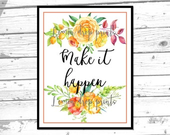 floral printable boho wall art prints quote poster instant download inspirational bedroom wall print home office wall art home decor gifts
