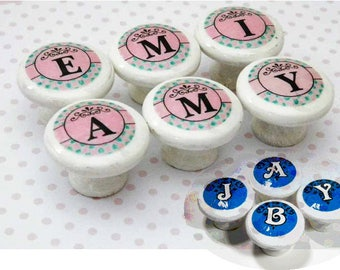 Alphabet Knobs for Girls & Boys. Spell Your Baby's Name or Initials. Personalized Decor for Playroom/Bedroom/Nursery. Great New Baby Gift!