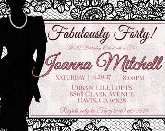 Fabulously Forty! Birthday Party Invitation