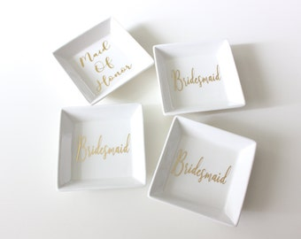 Bridesmaid Ring Dish | Bridesmaid Gift | Jewelry Dish | Bridal Gift | Maid of Honor | Personalized
