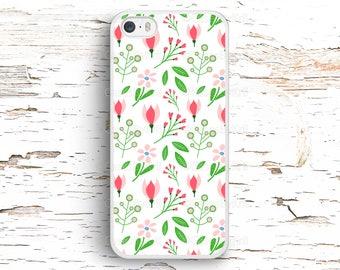 Floral Pattern, Flowers Doodles Case, iPhone 7 6S 6 SE 5S 5 5C 4S, Samsung Galaxy S6 Edge S5 S4 S3, LG G4 G3, Sony Xperia Z5 Z3, HTC One M8