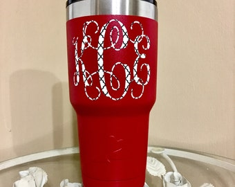 Moroccan Lattice Pattered Monogramed Tumbler