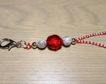 Red and White Lanyard