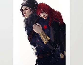 Winterwidow in Snow Print