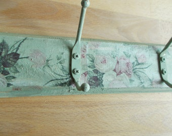 shabby chic coat hooks , country cottage