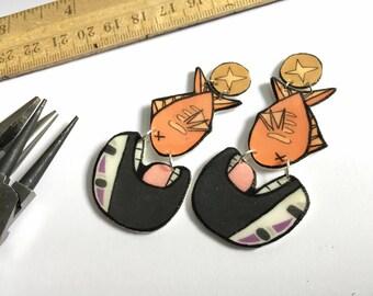 Spirited Away No Face Studio Ghibli Inspired Dangle Earrings