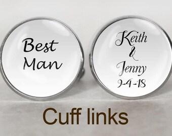 Best Man Cuff Links, Wedding Cufflinks, Bridal Gift, Wedding Keepsake, Best Man Cufflinks, Bridal Party, Bridal Gift