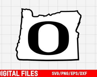 Oregon State Outline SVG - Oregon Ducks SVG