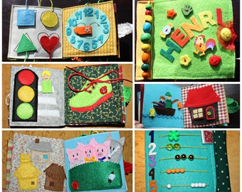 Quiet book, busy book, ruhiges buch for toddlers and kids, age 1-4 years, fine motorics, customised