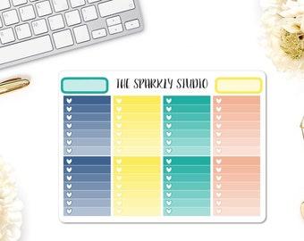 Sunny Days Ombre Heart Checklist