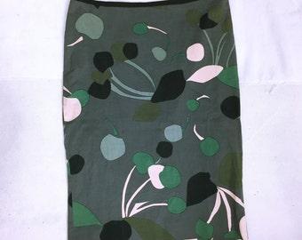 MIUMIU Pattern slit skirt