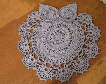 Retro Owl Rug or Doily Rug