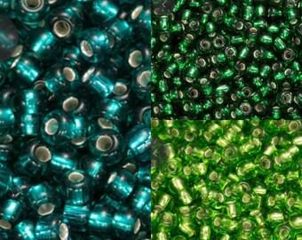 size 11 seed beads, glass beads, small beads, stitchwork, czech glass beads, craft supplies, jewellery making, beading supply, 10g beads