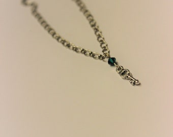 Crystal key necklace, Perfect gift, Crystal jewellery