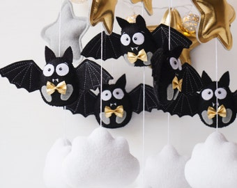 Bats mobile - Baby mobile - Animal mobile  - Super bats - bat mobile - bat toy - black and white mobile