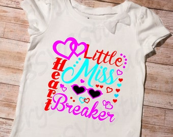 SVG File for Little Miss Heart Breaker