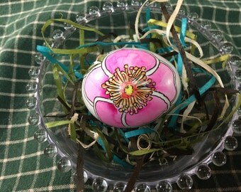 Wild Rose Hand Painted Egg