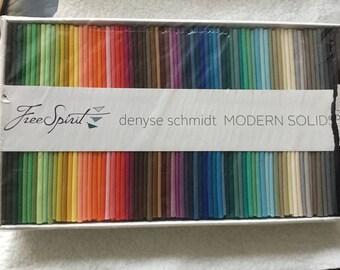 Box of 75 fat quarters, Denyse Schmidt, modern solids, free spirit fabrics,