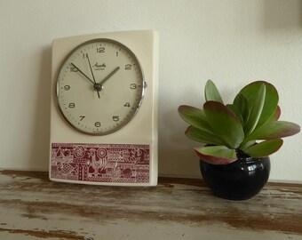 Mauthe wall clock kitchen watch lovely vintage 60 s nice design gesture ceramiqué