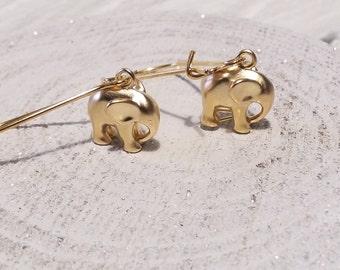 Lovely gold plated elephant earrings