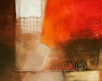 Original paint, 95 x 130 cm, contemporary art, handmade, colors acrylic oil natural pigments