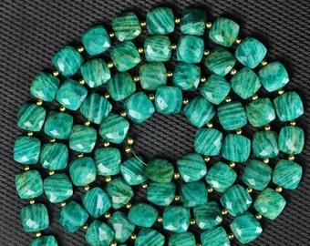 34 piece AMAZONITE FANCY beads 10 x 10 mm approx