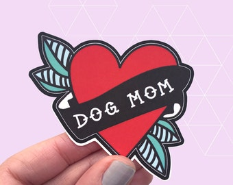 Dog Mom Vinyl Die Cut Sticker