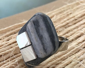 Ring adjustable  mother of pearl Regalo per lei