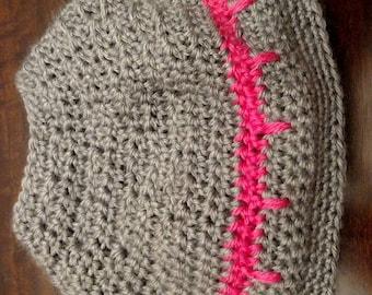 Stripe Ponytail Hat