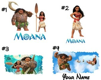 Moana T shirt Iron on Transfer personalized Light Fabric