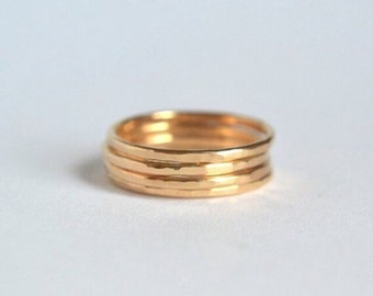 Gold Stacking Rings. Stackable Rings, Gold Filled Ring, Dainty Gold Ring, Skinny Gold Ring, Thin Stacking Rings