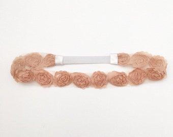 Flower Headband - Boho Floral Crown - Peach Flower Crown - Flower Crown - Headbands for Girls - Toddler Headband - Adult Headbands