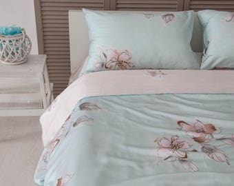 Flowers bedding Bamboo bedding bamboo duvet cover set Floral floral pattern print bedding floral bed sheets comfort bedding floral duvet