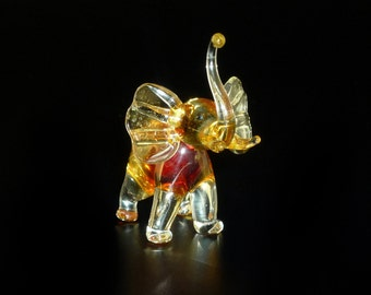 Elephant Glass Figurine Collectible High-quality Handmade Russian Federation