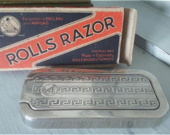1930's Rolls Razor/Made in England/Mens Vintage Wet Shave Grooming