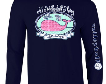 Volleyball WHALE - Volleyball Long Sleeve T-shirt