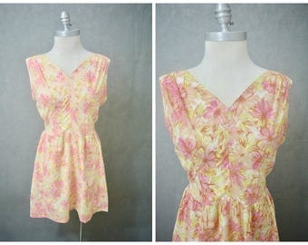 Vintage 1960s Dress | Vintage 1960s Mini Dress | Candy Flowers Vintage Dress | 1960s Wiggle Dress