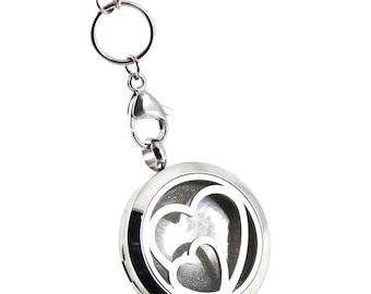 Engraved DIY Breast Milk Stainless Steel Double Heart Locket Kit, Do it Yourself DNA Breastmilk keepsake.