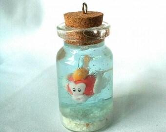 Super Mario - cheep cheep - charm - polymer clay - Handmade