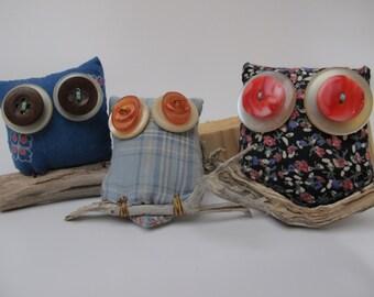 set of 3,Cute,Owl,Magnet,set on branc,Lavender,scent,rustic,funny,gift,home decor,stationery,holder,unique gift,owls,kitchen,woodland,eco