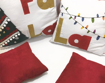 Christmas pillow, decorative holiday pillow