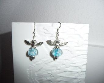 Earrings Lampwork Angel