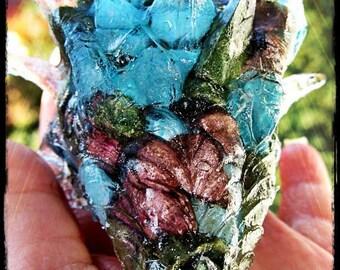 Dragon Guardian with Sunstone, Blue Quartz, Chevron Amethyst, Rose Quartz, Selenite
