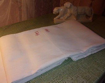 former cloth linen, canvas rustic, Monogram