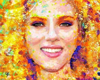 Portrait Scarlett Johansson dream by ILIA ADIYAKOV