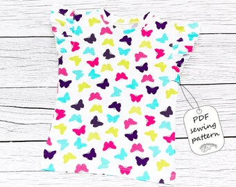 Girls top pattern pdf, girls t-shirt pattern, girls sewing patterns